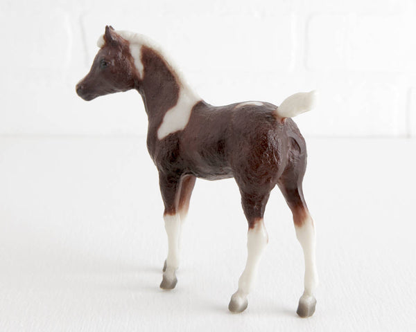 Breyer Rough Diamond Liver Chestnut Pinto on Phantom Wings Mold at Lobster Bisque Vintage