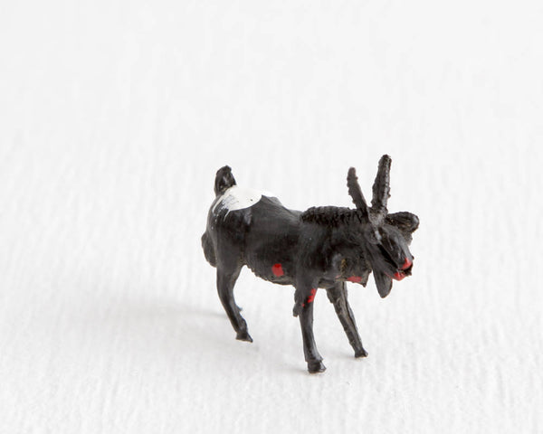Zombie Black and White Goat at Lobster Bisque Vintage