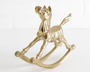 Brass Rocking Horse at Lobster Bisque Vintage