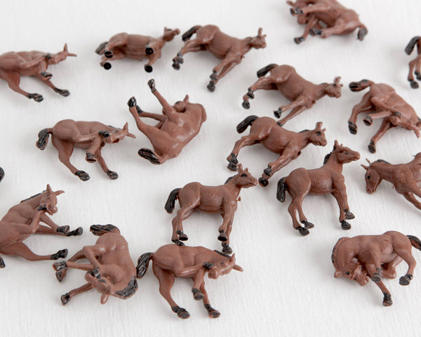 Lot of 18 Miniature Brown Foals at Lobster Bisque Vintage