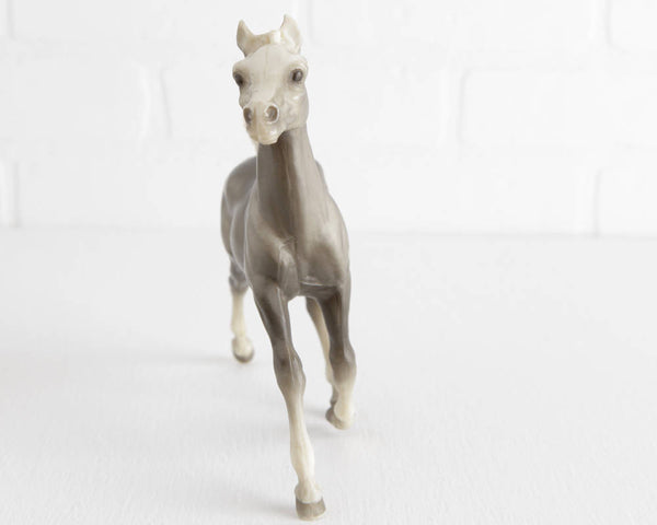 Breyer Smoke Gray Running Foal with Speckled Face #131 at Lobster Bisque Vintage