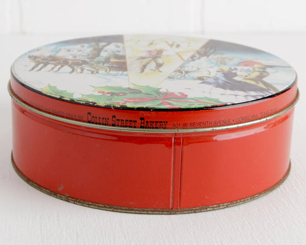 Collin Street Bakery Christmas Fruitcake Tin at Lobster Bisque Vintage