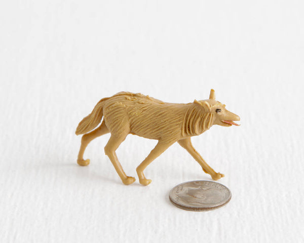 Tiny Coyote in Light Tan with Red Mouth at Lobster Bisque Vintage