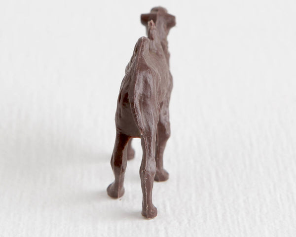 Dark Brown Bactrian Camel Figurine at Lobster Bisque Vintage