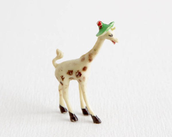 Giraffe in Safari Hat at Lobster Bisque Vintage