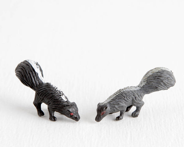 Skunk Pair with Red Eyes at Lobster Bisque Vintage