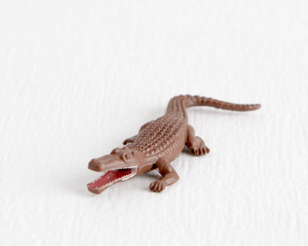 Brown Crocodile Figurine with Open Red Mouth at Lobster Bisque Vintage