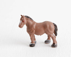 Bay Draft Horse Figurine at Lobster Bisque Vintage
