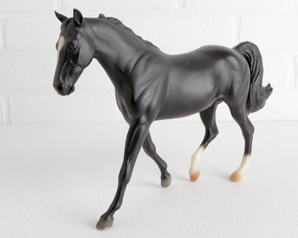 Breyer Black Missouri Fox Trotter Iron Metal Chief #971 at Lobster Bisque Vintage