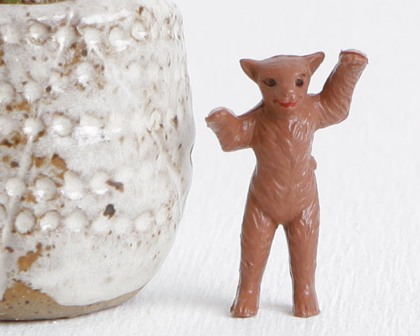 Brown Tiny Standing Bear at Lobster Bisque Vintage