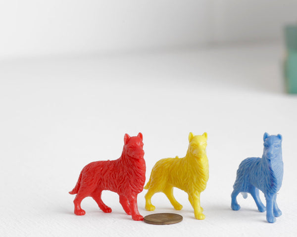 Trio of Sheepdog Miniatures at Lobster Bisque Vintage