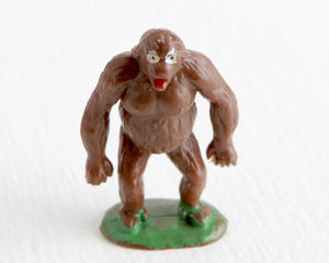 Standing Brown Gorilla on Green Base at Lobster Bisque Vintage