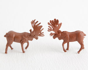 Pair of Brown Bull Moose at Lobster Bisque Vintage
