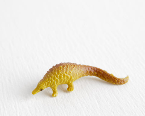Deep Yellow Pangolin Figurine at Lobster Bisque Vintage