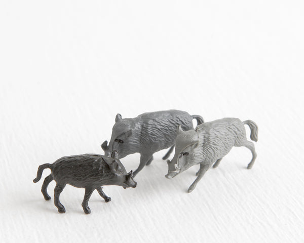 Warthog Family Trio at Lobster Bisque Vintage