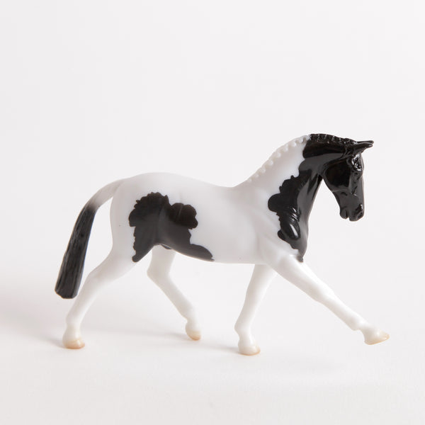 Breyer Mystery Horse Surprise Black Pinto Hanoverian