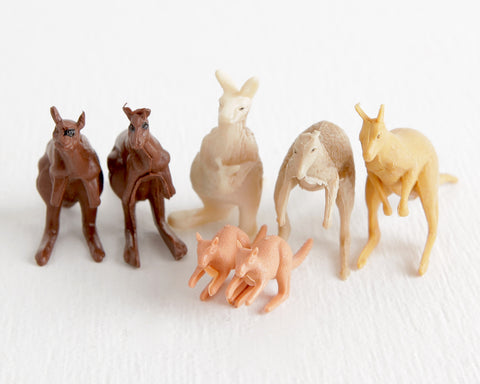 Lot of 7 Kangaroos at Lobster Bisque Vintage