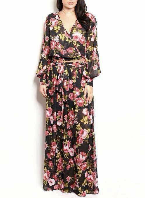 Buxom Two Piece Long Sleeve + Maxi Set