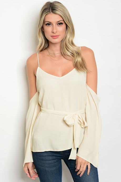 Open Shoulder Tie Top