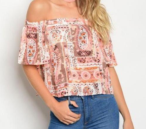 Ivory and Coral Top