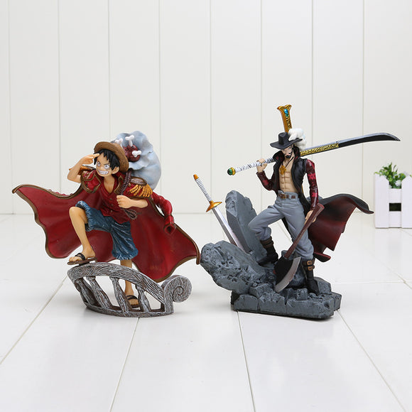 Luffy e Mihawk Dracule Action Figure - One Piece