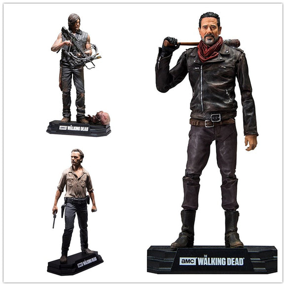 Actions figures De Luxo Rick - Daryl - Negan - The Walking Dead