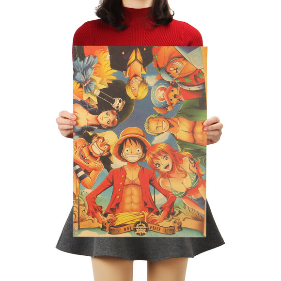 Poster Luffy e amigos - One Piece