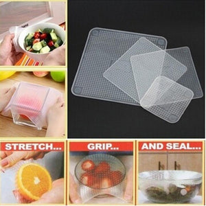 Reusable Silicone Food Savers - The Smart Way to Keep Your Food Fresh! (Set of 4) - Astral Cart
