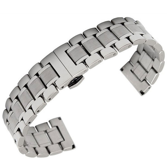 Butterfly Classic Stainless Steel Watch Band