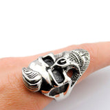 Beard Skull Hooded Ring - thema cave