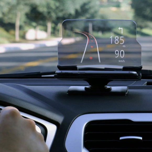 HUDway Glass / Smartphone Head-Up Display - thema cave