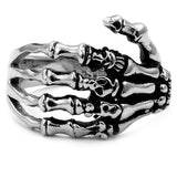 Hand Skeleton Skull Ring - thema cave