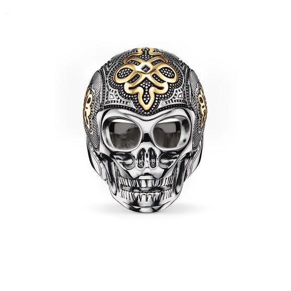 Motorcycle Skull Ring - thema cave