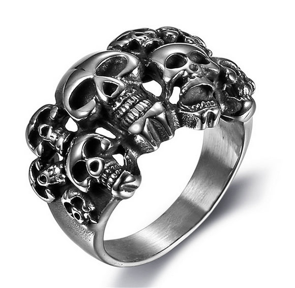 Vintage Pirate Skull Rings - thema cave