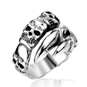 Open Hand Skull Ring - thema cave