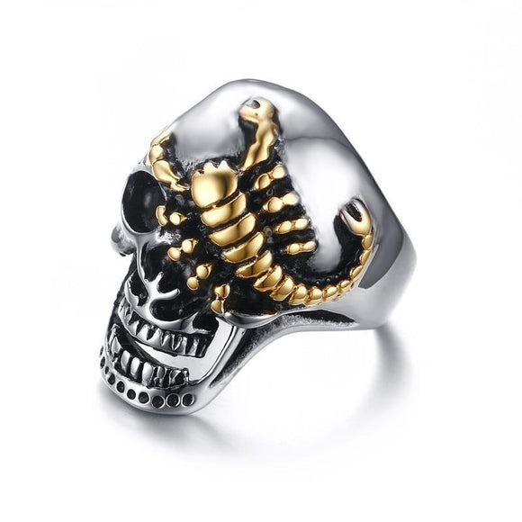 Scorpion Skull Ring - thema cave