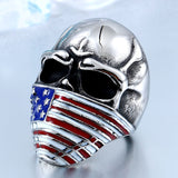 American Flag Skull Ring - thema cave
