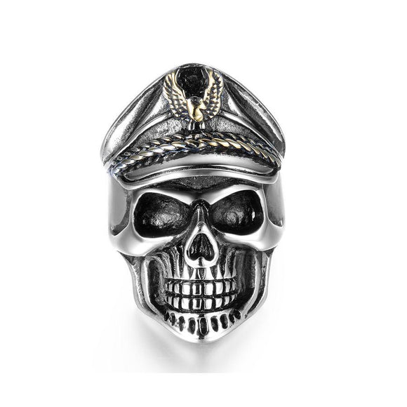 Officer Skull Titanium Rings - thema cave