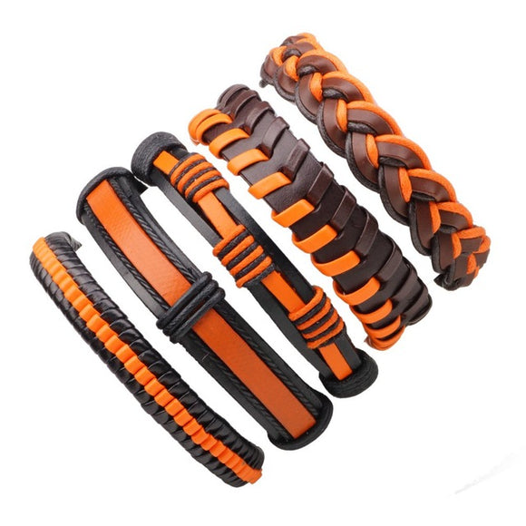 Set of 5 Vintage Leather Bracelets - thema cave