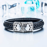 Leather Skull Bracelet - thema cave