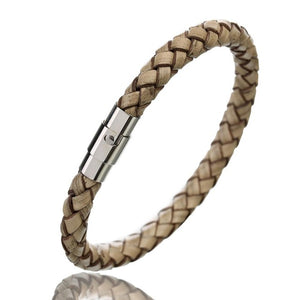 Braided Leather Bracelet - thema cave