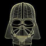 Star Wars 3D Illusion Lamp - thema cave