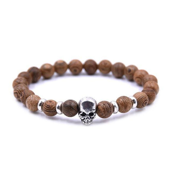 Wooden Skull Bracelets - thema cave
