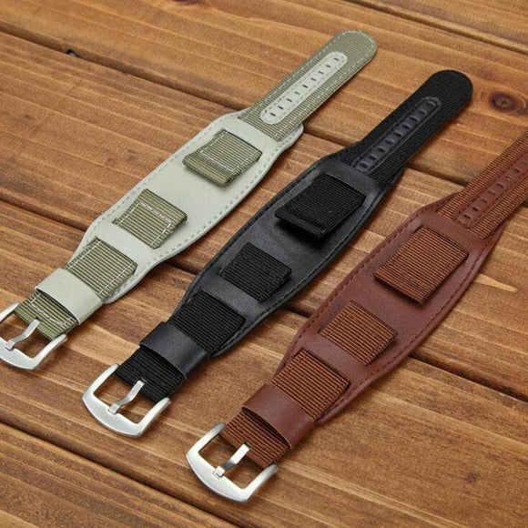 Nylon + Leather Watch Band - thema cave