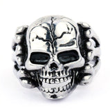 Gothic Men's Skull Ring - thema cave