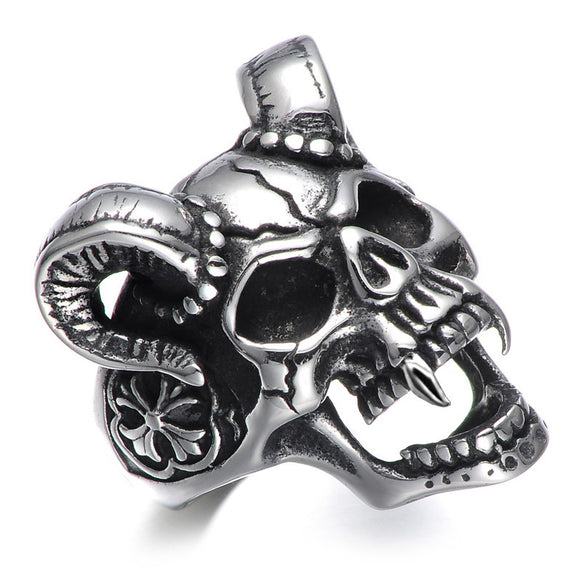 Goat Skull Ring - thema cave