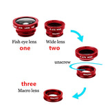 Universal Fish eye lens 3 in 1 - thema cave