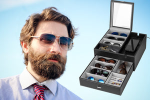 The Epic Sunglasses Organizer that Outshines All Others