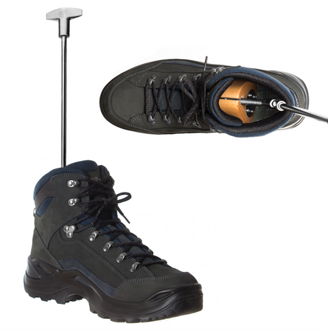 Boxer Boot Stretcher being used on Hiking Boots