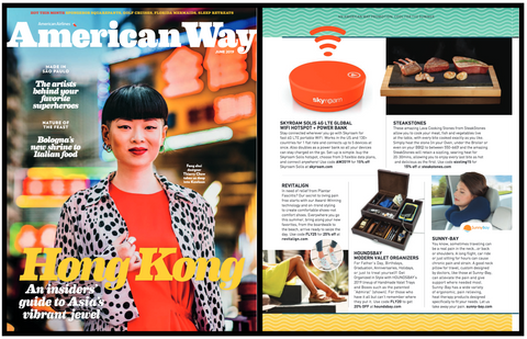 Houndsbay in American Way Magazine